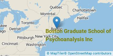 Location of Boston Graduate School of Psychoanalysis Inc