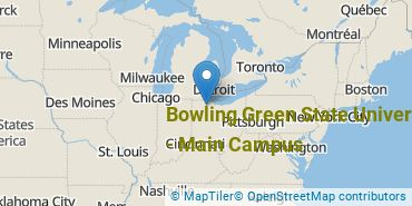 Location of Bowling Green State University - Main Campus