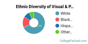 Ethnic Diversity of Visual & Performing Arts Majors at Bradley University