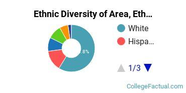 Ethnic Diversity of Area, Ethnic, Culture, & Gender Studies Majors at Brandeis University