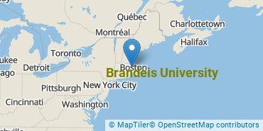 Location of Brandeis University
