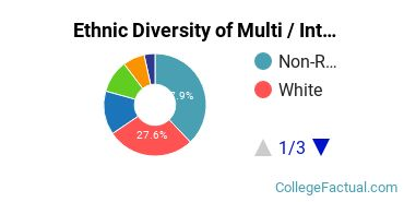 Ethnic Diversity of Multi / Interdisciplinary Studies Majors at Brandeis University