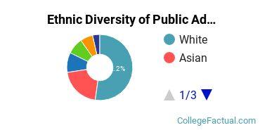 Ethnic Diversity of Public Administration & Social Service Majors at Brandeis University