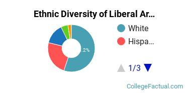 Ethnic Diversity of Liberal Arts General Studies Majors at Brandman University