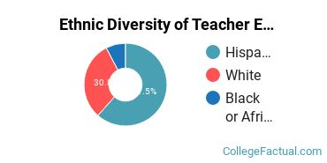 Ethnic Diversity of Teacher Education Grade Specific Majors at Brazosport College