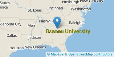 Location of Brenau University