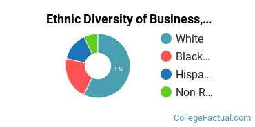 Ethnic Diversity of Business, Management & Marketing Majors at Brevard College
