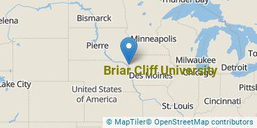 Location of Briar Cliff University