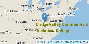 Location of BridgeValley Community & Technical College
