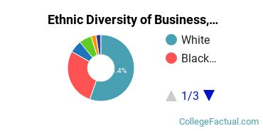 Ethnic Diversity of Business, Management & Marketing Majors at Bridgewater College