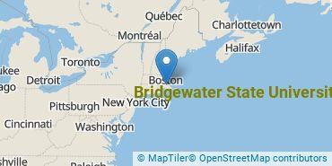 Location of Bridgewater State University