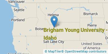 Location of Brigham Young University - Idaho