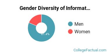 BYU Gender Breakdown of Information Technology Bachelor's Degree Grads