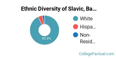 Ethnic Diversity of Slavic, Baltic & Albanian Languages Majors at Brigham Young University - Provo