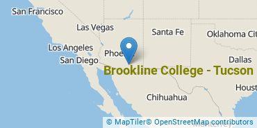 Location of Brookline College - Tucson