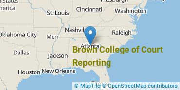Location of Brown College of Court Reporting