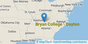Location of Bryan College - Dayton