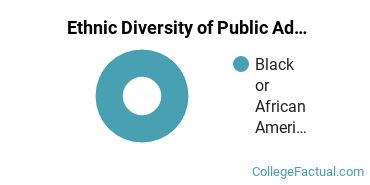 Ethnic Diversity of Public Administration & Social Service Majors at Bryant and Stratton College - Cleveland