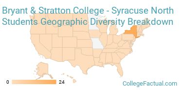 Where are Bryant & Stratton College - Syracuse North Students From?