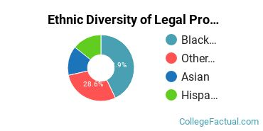 Ethnic Diversity of Legal Professions Majors at Bryant and Stratton College - Virginia Beach