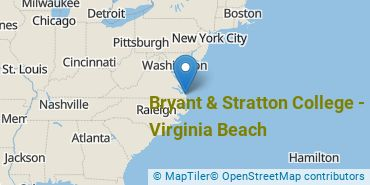 Location of Bryant and Stratton College - Virginia Beach