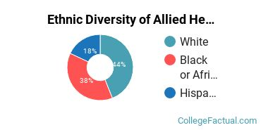 Ethnic Diversity of Allied Health & Medical Assisting Services Majors at Bryant and Stratton College - Wauwatosa