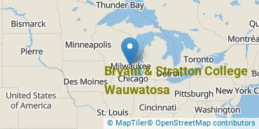 Location of Bryant and Stratton College - Wauwatosa