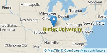 Location of Butler University