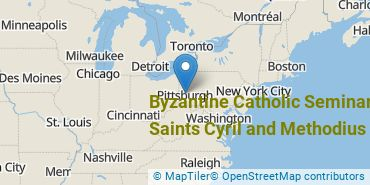 Location of Byzantine Catholic Seminary of Saints Cyril and Methodius