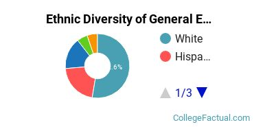 Ethnic Diversity of General Education Majors at Cabrini University
