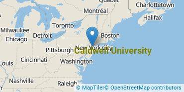 Location of Caldwell University