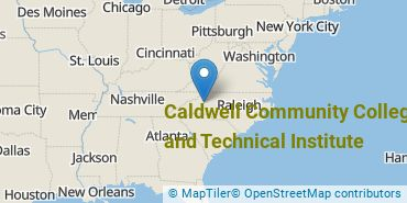 Location of Caldwell Community College and Technical Institute