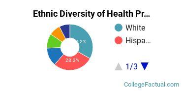Ethnic Diversity of Health Professions Majors at California Baptist University