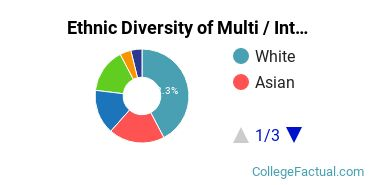 Ethnic Diversity of Multi / Interdisciplinary Studies Majors at California Baptist University