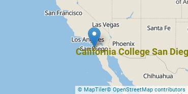 Location of California College San Diego