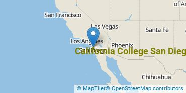 Location of California College San Diego
