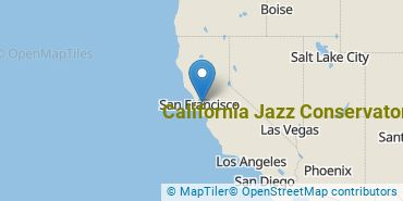 Location of California Jazz Conservatory