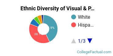 Ethnic Diversity of Visual & Performing Arts Majors at California Lutheran University
