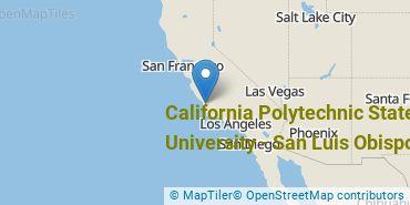 Location of California Polytechnic State University - San Luis Obispo