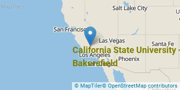 Location of California State University - Bakersfield