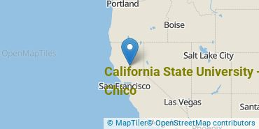 Location of California State University - Chico