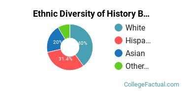 Ethnic Diversity of History Majors at California State University - East Bay