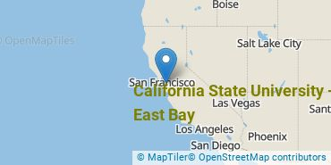 Location of California State University - East Bay