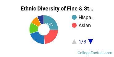 Ethnic Diversity of Fine & Studio Arts Majors at California State University - East Bay