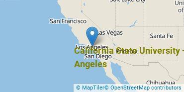 Location of California State University - Los Angeles