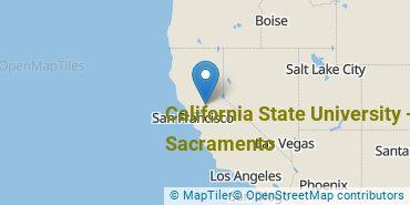 Location of California State University - Sacramento