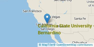 Location of California State University - San Bernardino