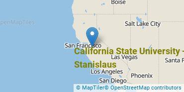 Location of California State University - Stanislaus
