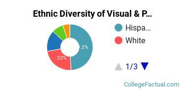 Ethnic Diversity of Visual & Performing Arts Majors at California State University - Stanislaus