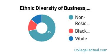 Ethnic Diversity of Business, Management & Marketing Majors at California University of Management and Sciences